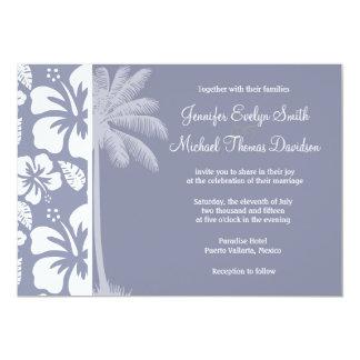 Gray-Blue Hawaiian Tropical Hibiscus; Palm Announcements
