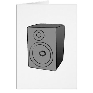 Gray Boombox Greeting Card