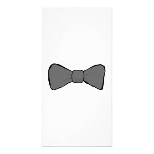Gray Bow Tie Personalized Photo Card