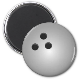 Gray Bowling Ball 6 Cm Round Magnet