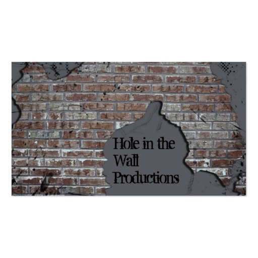 Gray Brick Wall Business Card