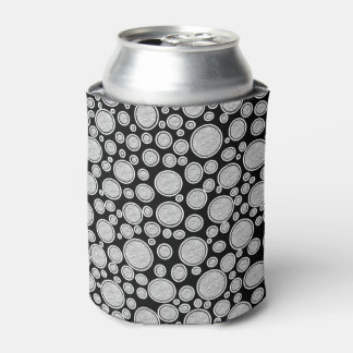 Gray Bubbles Can Cooler