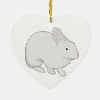 Gray Bunny Rabbit Christmas Ornament