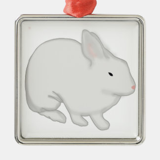 Gray Bunny Rabbit Christmas Tree Ornament