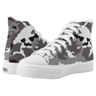 Gray Camouflage... Printed Shoes