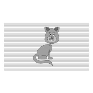Gray Cat. Business Card Templates