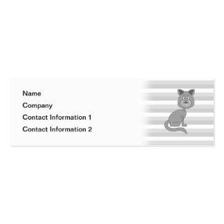 Gray Cat. Business Card