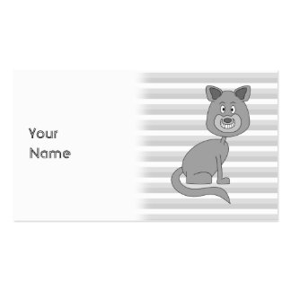 Gray Cat. Business Card Template