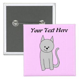 Gray Cat Cartoon. Buttons