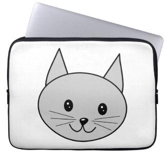 Gray Cat Computer Sleeve