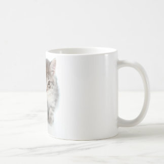 Gray Cat Basic White Mug