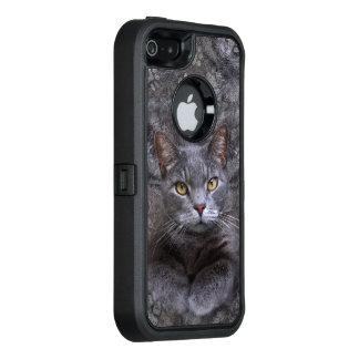 Gray Cat OtterBox iPhone 5/5s/SE Case