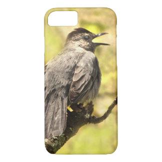 Gray Catbird Sings His Song iPhone 8/7 Case