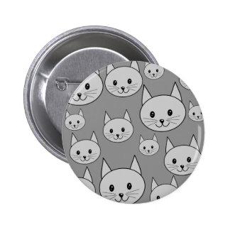 Gray Cats Pin