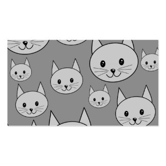 Gray Cats. Business Card Template