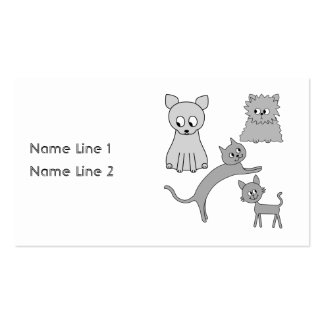 Gray Cats. Business Cards