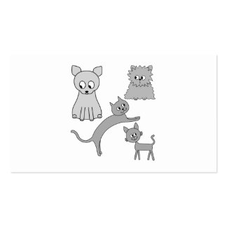 Gray Cats. Business Card