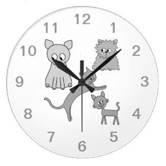 Gray Cats. Clocks
