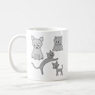 Gray Cats. Mug