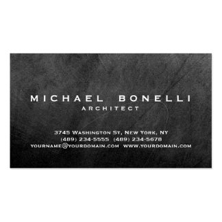 Gray Chalkboard Pattern Simple Plain Business Card