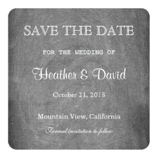Gray Chalkboard Save the Date Wedding Invitation