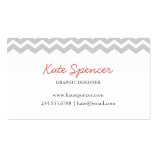 Gray Chevron and Polka Dot Business Card Templates