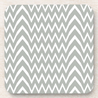 Gray Chevron Illusion Coaster