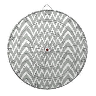 Gray Chevron Illusion Dartboard