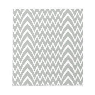 Gray Chevron Illusion Notepad