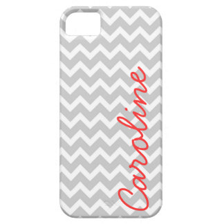 Gray Chevron Personalized Custom Monogram iPhone 5 Cover