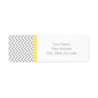Gray Chevron Return Address Label