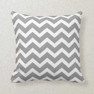 Gray Chevron Stripe Pillow