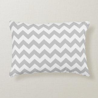 Gray Chevron Zig Zag Decorative Cushion