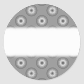 Gray Circles Pattern. Sticker