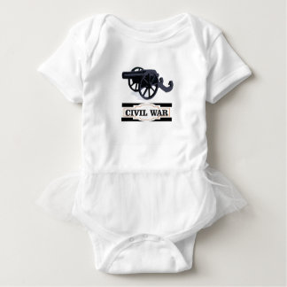 gray civil war cannons baby bodysuit