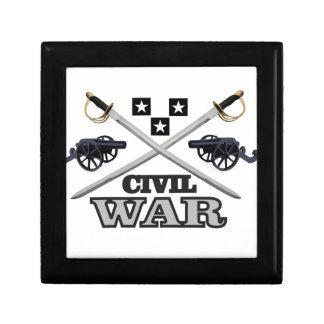 gray civil war cannons small square gift box