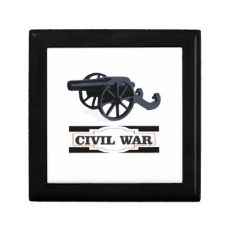 gray civil war cannons small square gift box