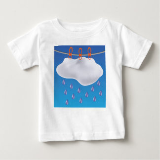 Gray Clouds Baby T-Shirt