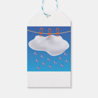 Gray Clouds Gift Tags