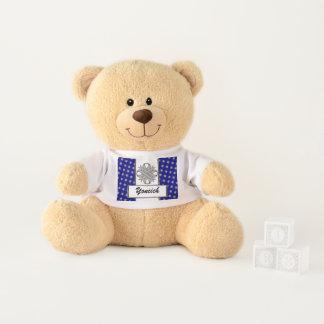 Gray Clover Ribbon by Kenneth Yoncich Teddy Bear