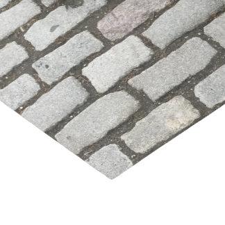 Gray Cobblestone Stone Pattern Print Tissue Paper