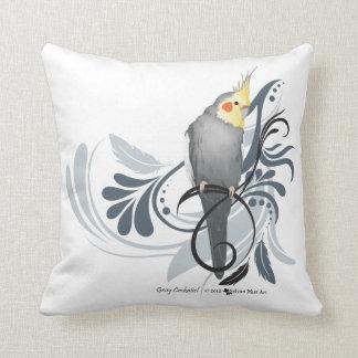Gray Cockatiel Cushion