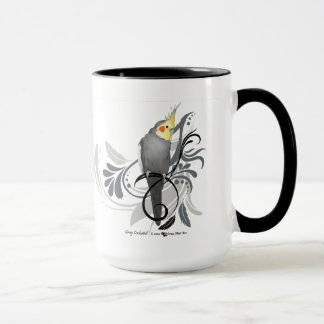 Gray Cockatiel Mug