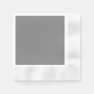 Gray Coined Cocktail Paper Napkin