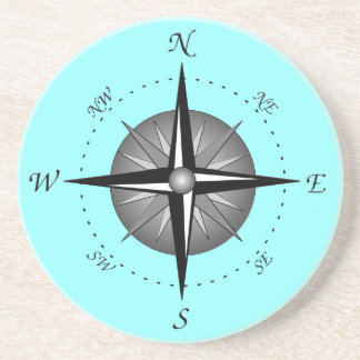 Gray Compass Rose Coasters