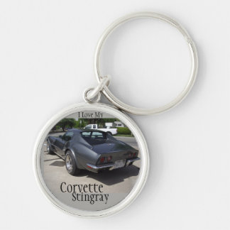 Gray Corvette Stingray Key Chain