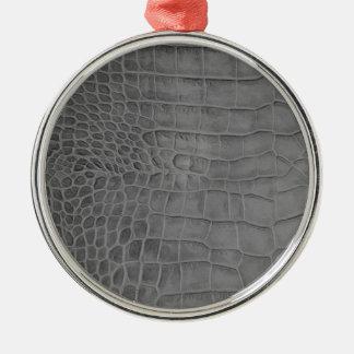 Gray crocodile metal ornament