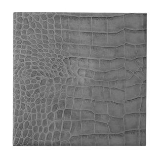 Gray crocodile tile