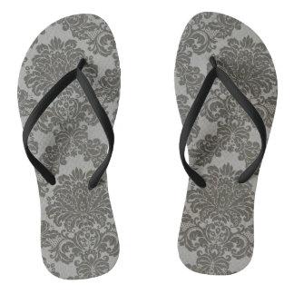 Gray Damask Thongs