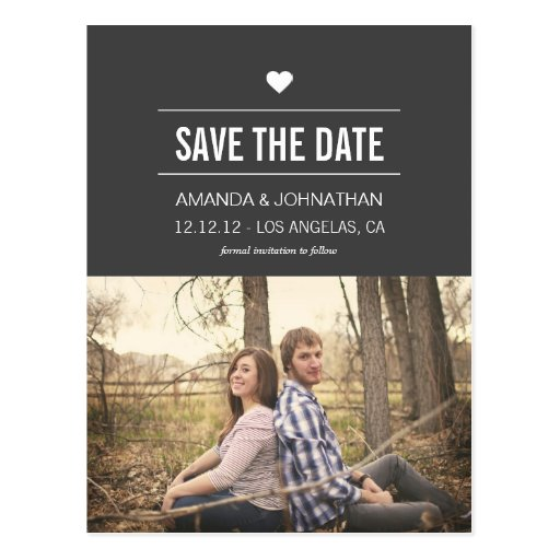 Gray Design Photo Save The Date Post Cards